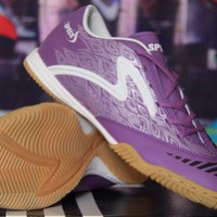 Sepatu futsal specs swervo FF in violet white Ori