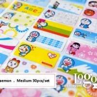 Doraemon Sticker MEDIUM Name Label. Stiker karakter Nobita, Shizuka, Suneo, Giant, lucu nama anak di buku tas sekolah hp hadiah