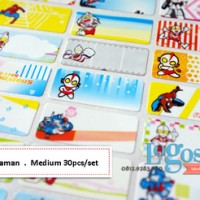 Heroes Sticker MEDIUM Name Label. Stiker karakter campuran hero ultraman spiderman transformer nama anak buku alat tulis sekolah