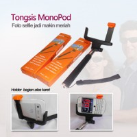 Paket Narsis (Tongsis + Universal L Clamp With Orange Karet Flip)
