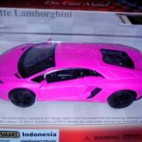 Diecast Lamborghini Aventador Matte Series Pink