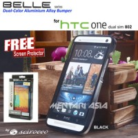 Bumper HTC OneDS 802 Dual SIM : Scirocco BELLE Series ( + FREE SP)