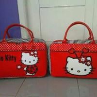Travel Bag Kanvas Berkarakter Kartun Hello Kitty Kepix Free Ongkir