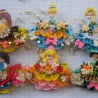 harga Accessories Rambut Kanzashi - Clay Edition (frozen, Snowhite, Princes) Tokopedia.com