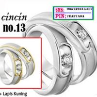cincin kawin tunangan dan couple perak no 13