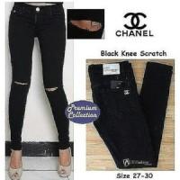 harga Jegging Cut Knee Ripped Big Size Black Soft Jeans Tokopedia.com