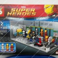 """Lego """"SY"""" SY305 Ironman Hall of Armor"""