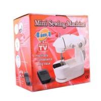 Jual Mesin jahit Mini 4 in 1 Sewing Machine Portable FHSM-201 ada Lampu LED Murah