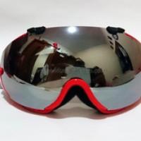 Goggle Pilot LY-100 dengan Lensa Mirror - Frame Merah