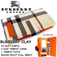 DOMPET WANITA SUPER MURAH CASUAL BURBERRY CLAY LIGHT KW ORANGE