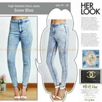harga High Waist Disco Jeans Snow Blue Tokopedia.com