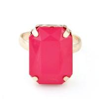Cincin Korea Plum Red Square Gemstone KR36159