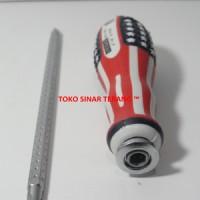 Obeng Bolak Balik/2 Way Plus Minus +/- Magnet Panjang Pendek VEGAS USA