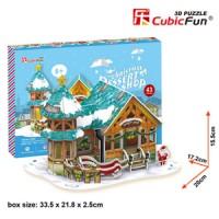 3D Puzzle Cubic Fun Christmas Dessert Shop