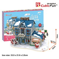 3D Puzzle Cubic Fun Christmas Sweet House