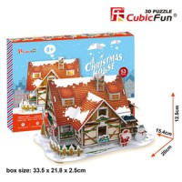 3D Puzzle Cubic Fun Christmas House