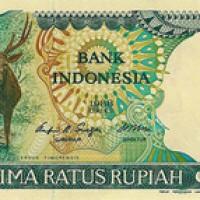 Uang kuno rp. 500 rupiah gambar rusa kertas tahun 1988 koleksi mahar