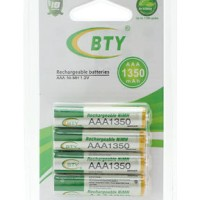 AAA 1350mAh Rechargeable AAA Battery Original BTY 4 Pieces 1.2V