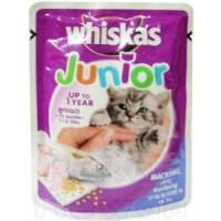 WHISKAS JUNIOR SACHET 85g / Makanan Bayi Kucing/Kitten Wet food