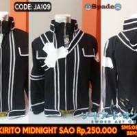 jaket anime sword art online kirito,anime distro baju (spade)