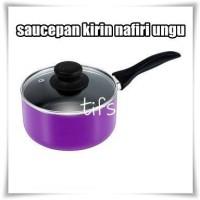 Kirin Nafiri Saucepan + Glass Cover - 18 cm - Ungu