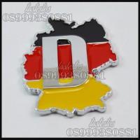 Emblem Bendera Jerman Metal