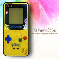 GAMEBOY POKEMON Iphone 5/5s RUBBER case,soft,casing,unik,pikachu,lucu