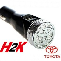 DIAMOND LOGO USB CAR CHARGER - MAZDA - TOYOTA - HONDA - MERCEDES