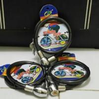 Kunci Gembok Helm / Sepeda Pengaman Seling wire kawat Besar Jumbo Aman