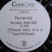 Bracket Transparant Keramik - Class One USA - untuk behel transparan