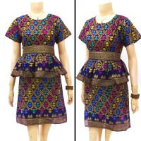 DRESS SONGKET PRADA BALI . DRESS BATIK SOLO