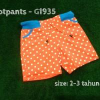 Baju Bayi Murah / Celana Hotpants Anak - G1935 Polka Orange