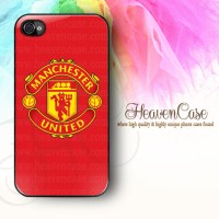 MU LOGO RED Iphone 4/4s HARD Case,casing,Manchester United,Red Devils