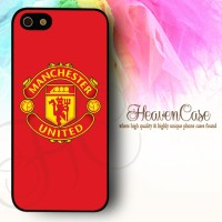 MU RED Logo Iphone 5/5s RUBBER case,soft,casing,Manchester United,bola