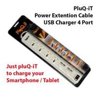 PLUQ-IT PQ-W4U3A POWER PLUG + USB Charger