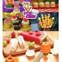 Pop Chef fruit cutter Cetakan Pompa Penghias kue Makanan Buah Roti