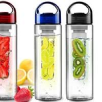 Jual TRITAN WATER BOTTLE WITH FRUIT INFUSER - TRITAN PLASTIC FRUIT JUICE Murah