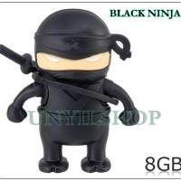 FANCY FLASHDISK USB LUCU DAN UNIK BLACK NINJA / NINJA HITAM