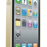 Love mei Crossline Aluminium Case Bumper Iphone 4/4s Gold