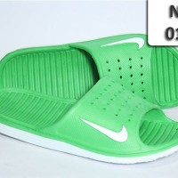 Sandal Nike Solarsoft Slide Import hijau putih slop pori NS-011