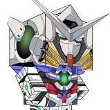GN-001 Gundam Exia Paper Craft
