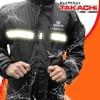 Jual Jas Hujan Berkualitas merk TAKACHI Japan Premium Black size XXL dan XXXL Murah