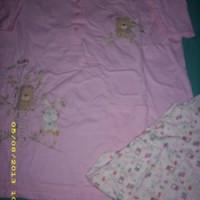 setelan baby doll pink-putih merek Anne Claire sz.