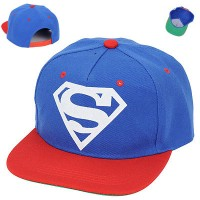 C13026 topi korea snapback blue superman