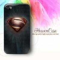 004 SUPERMAN Iphone 4/4s RUBBER Case,casing,soft,lambang,logo,symbol