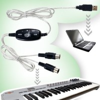 Usb Midi Cable Untuk Keyboard Piano Drum ke PC / Laptop