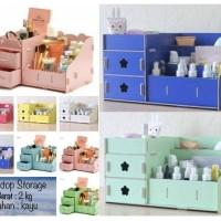 desktop storage BESAR / box kayu / meja rias 36 x 21 x 18