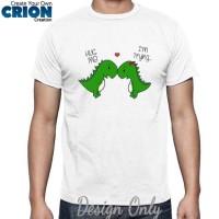 "Kaos Lucu "" Kisah Cinta T-Rex "" by Crion"