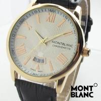 Montblanc Star ii Kulit (Hitam Putih Gold)