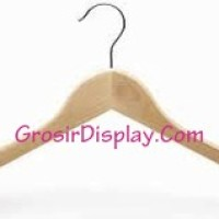 Harga hanger baju kayu tempat gantungan pakaian display toko | antitipu.com
